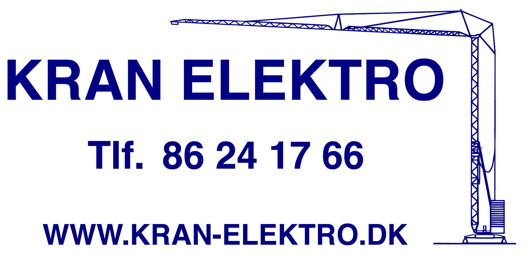 Kran Elektro annonce mørk blå