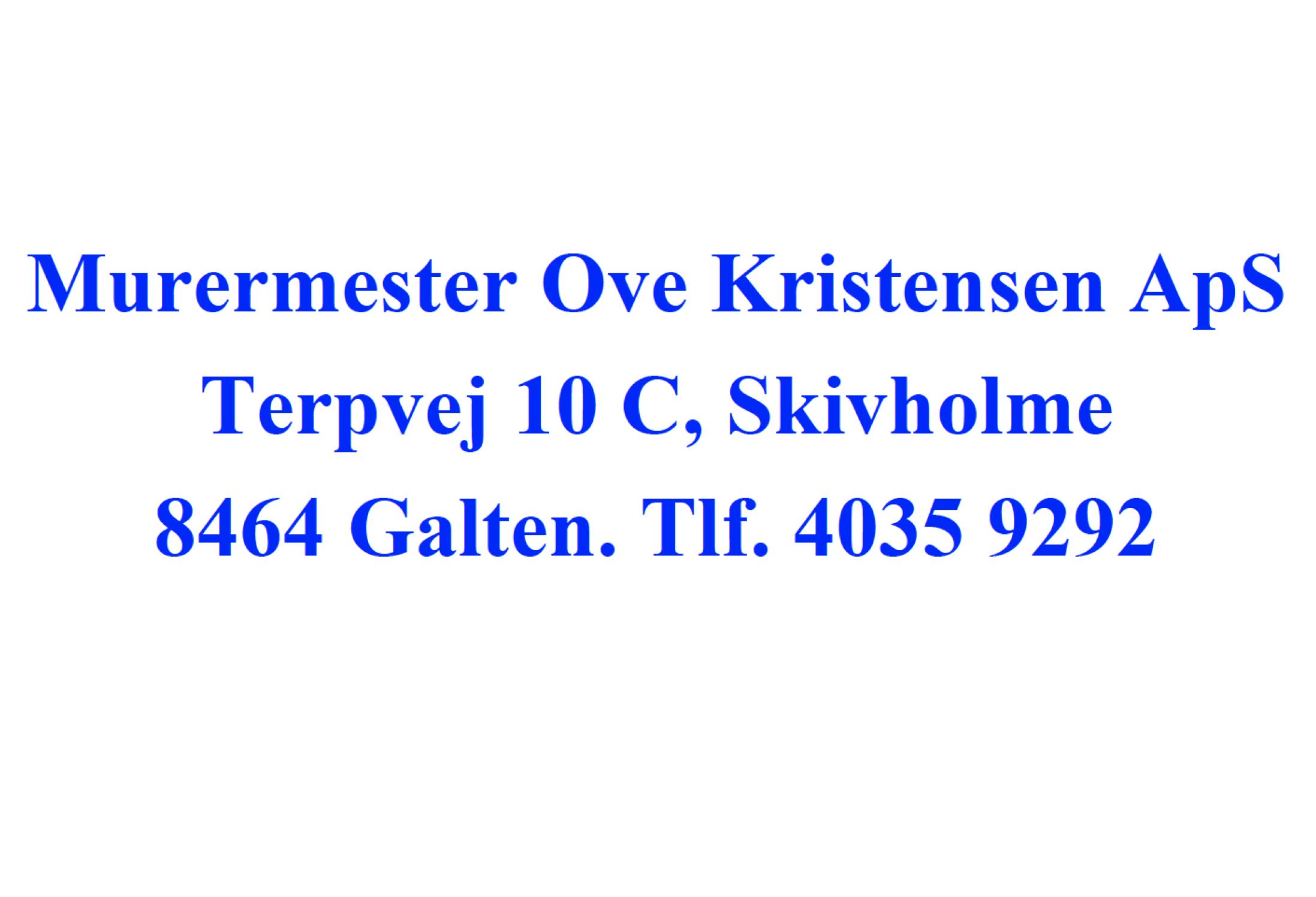 Murermester Ove Kristensen annonce